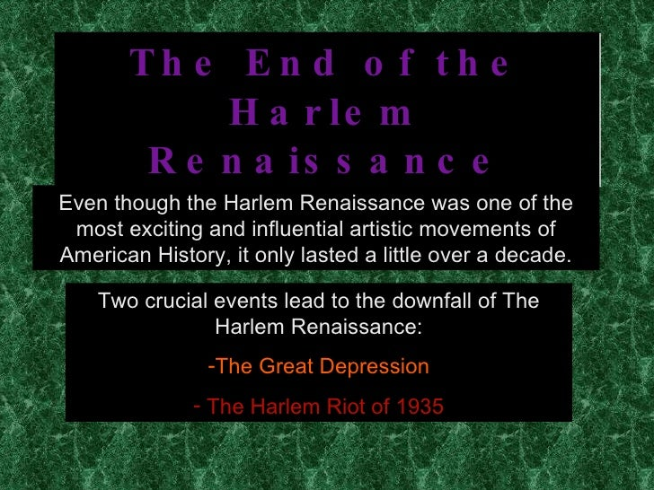 an introduction to the history of the harlem renaissance in the united states 2015-3-8  united states history  black history month is a time to  students will research the lives of famous african-americans of the harlem renaissance era.
