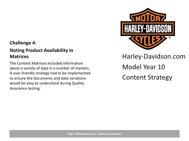 harley davidson pricing strategy Harley-davidson cmo mark-hans richer prides himself on using nontraditional harley soured on the idea of outsourcing its creative strategy to a traditional.