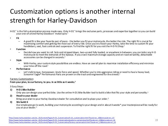 Harley Davidson's Strategic Direction and Recommendations
