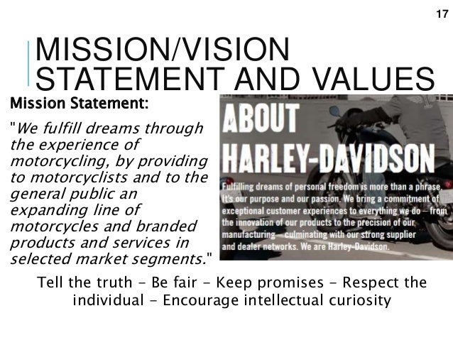 harley davidson mission statement 2018