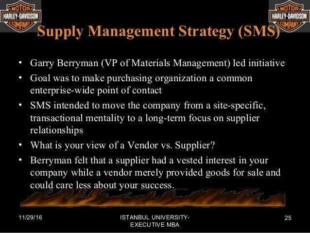 Strategic Management of Harley Davidson Motorcycle Corporation
