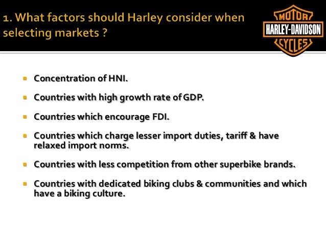 Harley Davidson, Inc.: Troubled Times Increase H-D's Reliance on International Sales