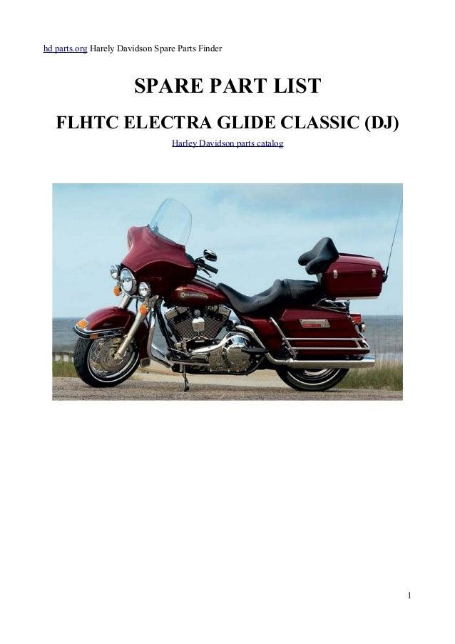 Harley Davidson Flhtc  Part List