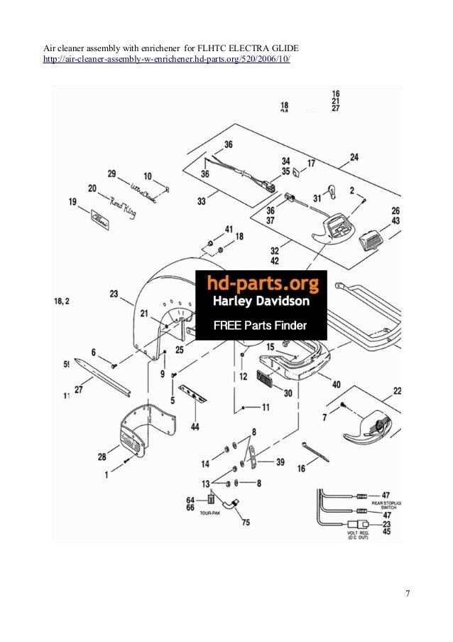 Harley Davidson Flhtc Parts Diagram. Catalog. Auto Parts