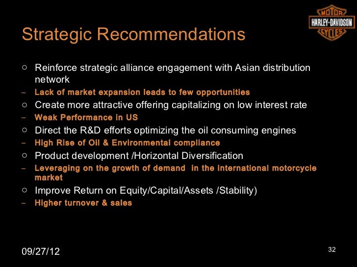 Strategic Recommendationso Reinforce strategic alliance engagement with Asian distribution  network–   Lack of market expa...