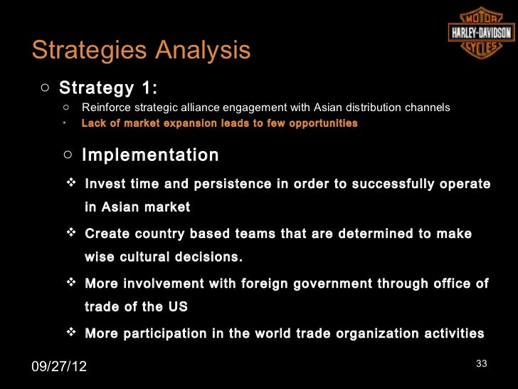 Strategies Analysis o Strategy 1:    o   Reinforce strategic alliance engagement with Asian distribution channels    •   L...
