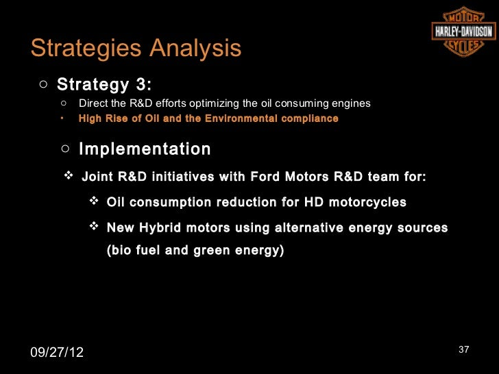 Strategies Analysis o Strategy 3:    o   Direct the R&D efforts optimizing the oil consuming engines    •   High Rise of O...
