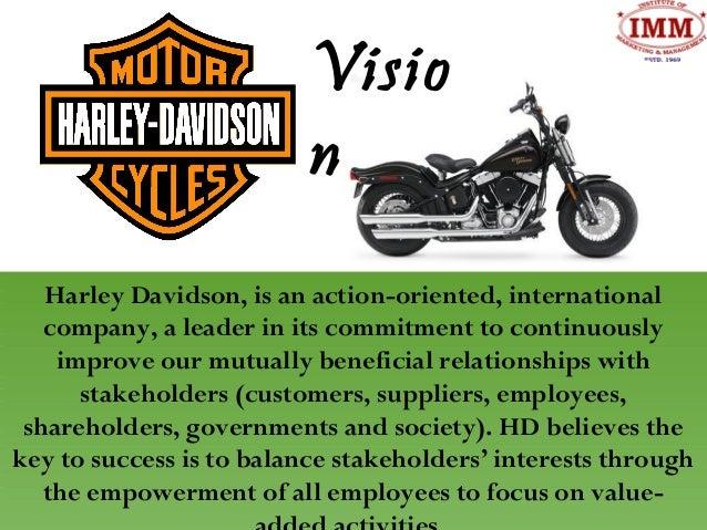 harley davidson stakeholder analysis Harley-davidson: enterprise software selection  history william harley and arthur davidson founded the harley-davidson motor company in 1903 by 1920, harley.