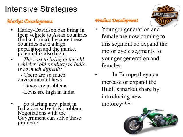 the attached swot analysis affects harley davidson inc marketing essay The swot analysis states that harley has a huge opportunity in 2008-2010 to increase revenue and profits by introducing new and improved models globally the analysis states that this is an ideal time to introduce new products since the global motorcycle market is expecting to reach a volume in of 527 million units by 2012, representing an increase of 607% from 2007.