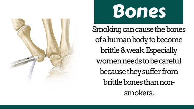 Smoking - effects on your body