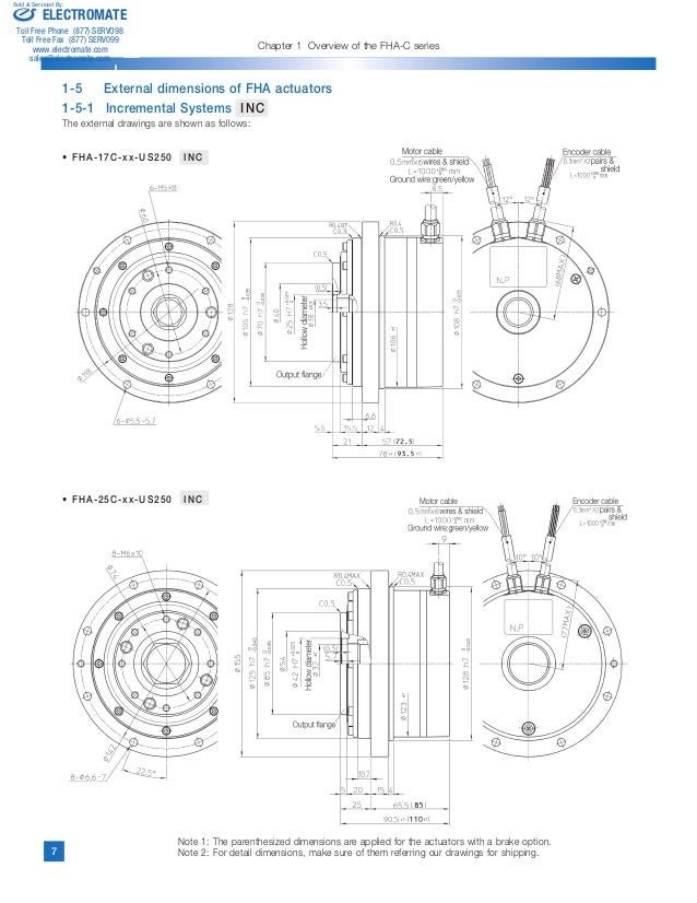 harmonic drive hallow shaft actuators catalog