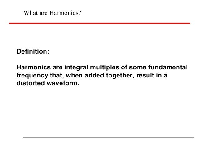 Harmonic reduction