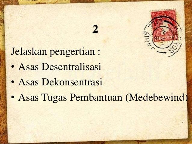 Harmonisasi Pemerintah Daerah & Pusat