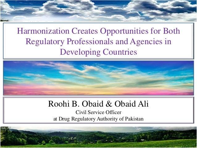 Harmonization and Opportunites (Nov 2015) Slide 2