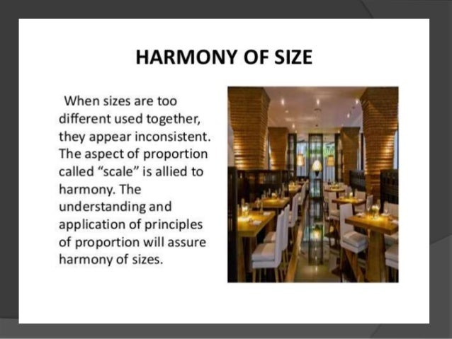 Harmony in interior design