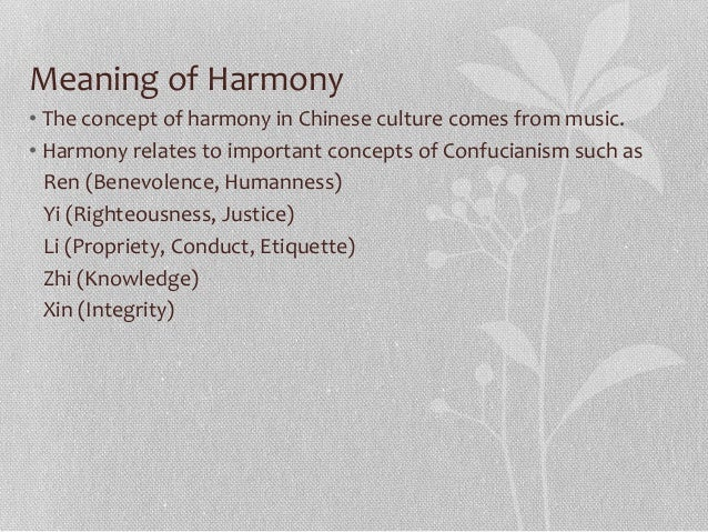 Harmony chinese culture