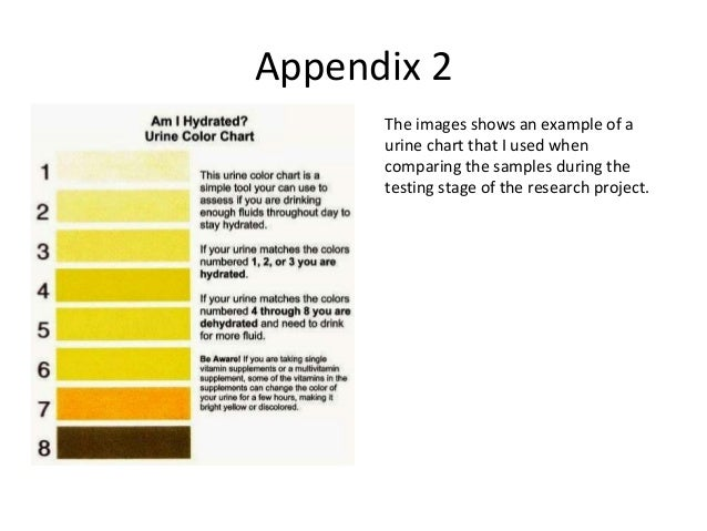 29. Appendix 2 The Images Shows An Example Of A Urine Chart ...