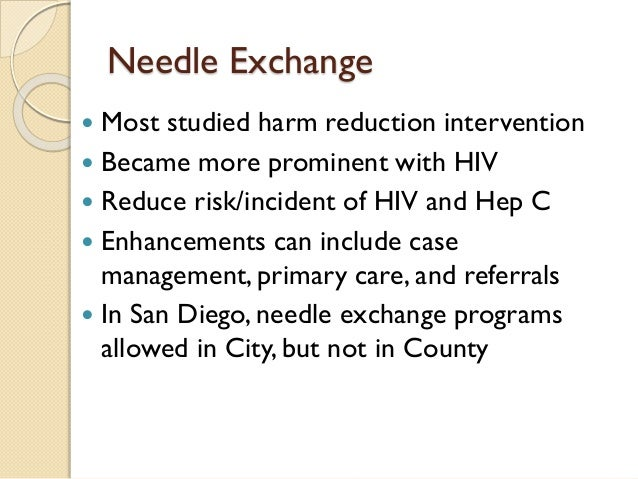Syringe Exchange Programs --- United States, 2008