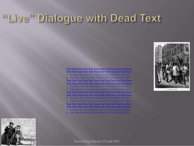 Knowledge Stream 19 sept 2013 Text Text Text Text Text Text Text Text Text Text Text Text Text Text Text Text Text Text Te...