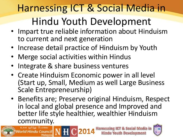 Harnessing ict & social media in hindu youth development, paper by el…