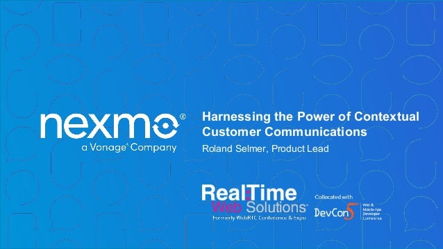 Harnessing the Power of Contextual Customer Communications Roland Selmer, Product Lead