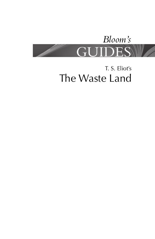 Harold Bloom T S Eliot S The Waste Land Bloom Book Fi border=