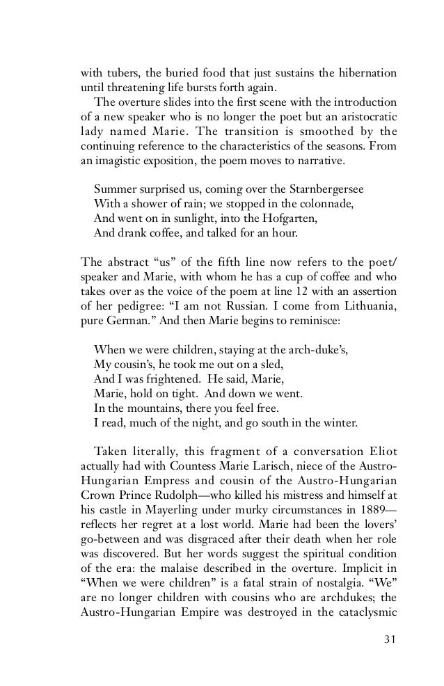 The Waste Land by T. S. Eliot: Critical Analysis