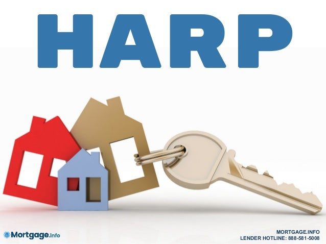 HARP MORTGAGE.INFO LENDER HOTLINE: 888-581-5008