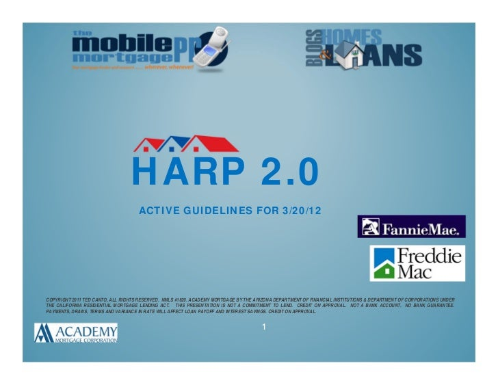 HARP 2.0                                    ACTIVE GUIDELINES FOR 3/20/12COPYRIGHT 2011 TED CANTO, ALL RIGHTS RESERVED. NM...