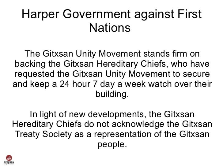 Harper Government against First             Nations  The Gitxsan Unity Movement stands firm onbacking the Gitxsan Heredita...