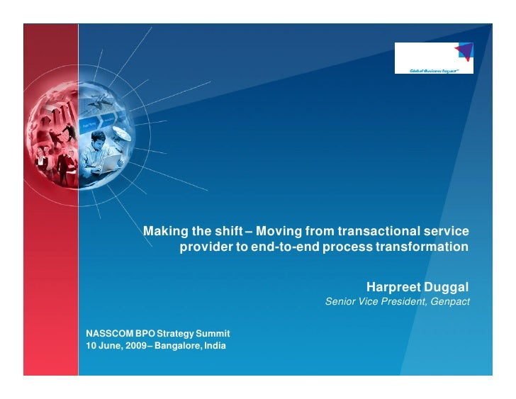 Making the shift – Moving from transactional service                 provider to end-to-end process transformation        ...
