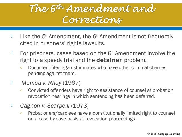 5th amendment right to be free