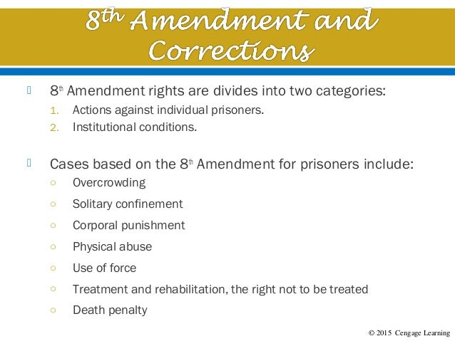 Chapter 12 The Eighth Amendment Bail Fines And Punishment