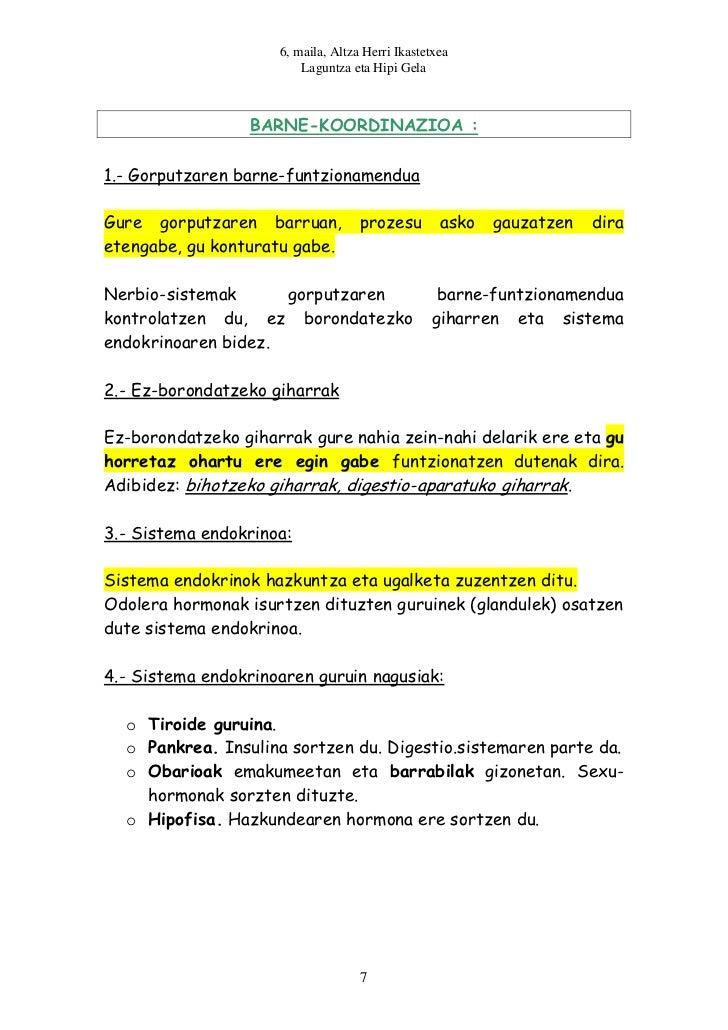 6, maila, Altza Herri Ikastetxea                         Laguntza eta Hipi Gela                 BARNE-KOORDINAZIOA :1.- Go...