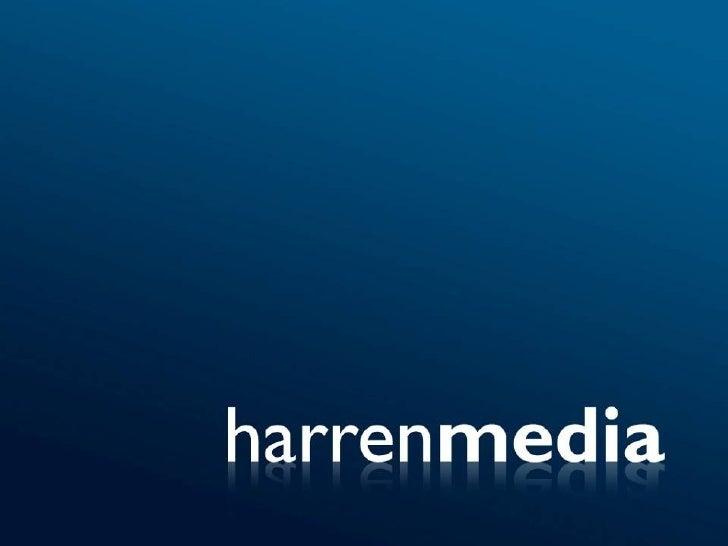 """Sobre Harren Media """"The Future of Advertising is Here""""    • Rede com mais de 10.000 sites  • + 14 bilhões de impressões po..."""