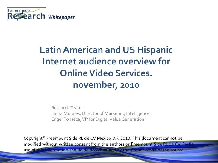 HM-Research-Whitepaper-Overview of Latin America and US Hispanic Audience for Online Video Services
