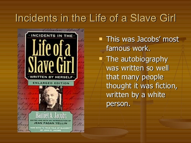 a comparison of the lives of frederick douglass and harriet jacobs Source for information on incidents in the life of a  narrative of the life of frederick douglass  ideology in harriet jacobs's incidents in the life of a .