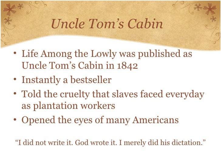 The novel depicting the cruelty of slavery in uncle toms cabin