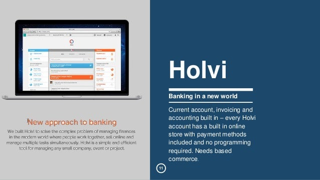 11  Holvi  Banking in a new world  Current account, invoicing and  accounting built in – every Holvi  account has a built ...
