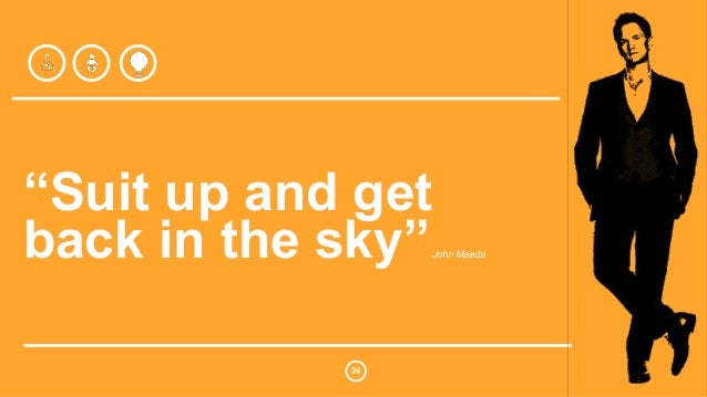 """""""Suit up and get  back in the sky""""John Maeda  24"""