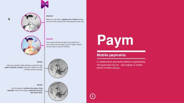 6  Paym  Mobile payments  A collaborative payments platform supported by  the payments council. Just register a mobile  ph...