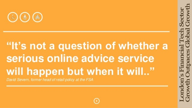 """""""It's not a question of whether a  serious online advice service  will happen but when it will..""""  David Severn, former he..."""