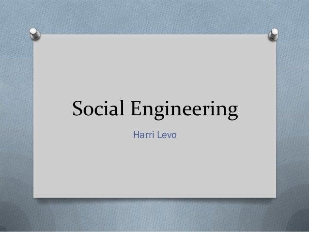 Social Engineering Harri Levo