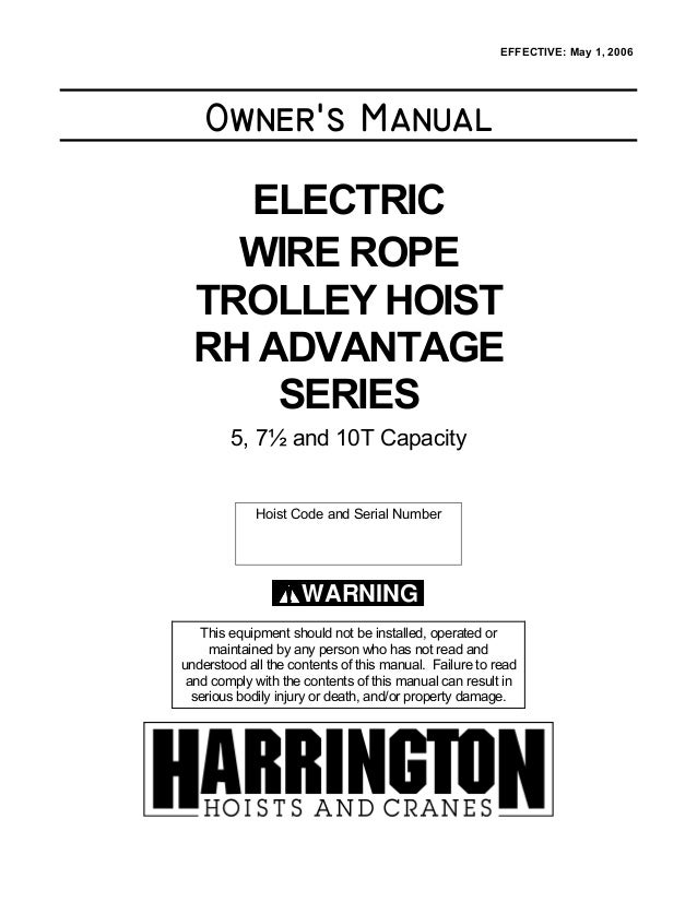 Harrington rh manual