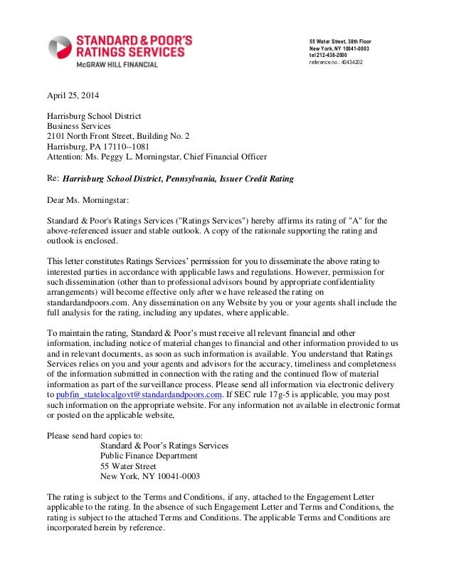 April 25, 2014 Harrisburg School District Business Services 2101 North Front Street, Building No. 2 Harrisburg, PA 17110--...