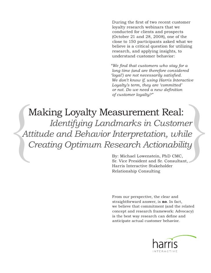 During the first of two recent customer                       loyalty research webinars that we                       cond...