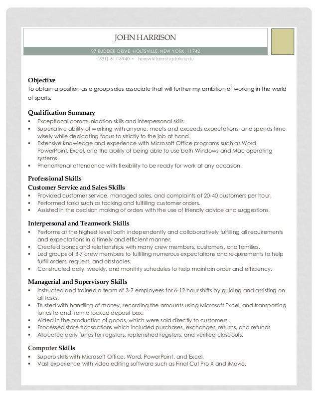 Career Objectives For Resume Word John Harrison Resume  Clerical Resume Sample Excel with Free Resume Builder Online Excel John Harrison Resume  John Harrison  Rudder Drive Holtsville New  York    Resume For High School Student With No Experience Word