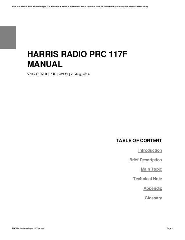 An prc-117f technical manual