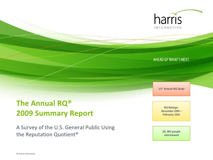 Annual RQ® 2009 USA                                                                        Summary Report                 ...