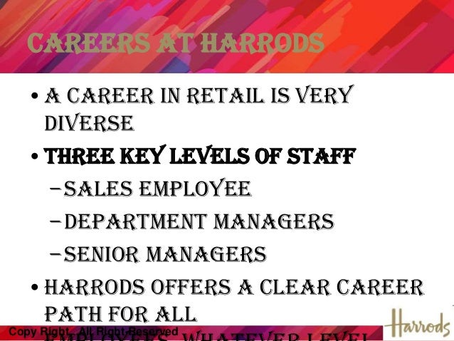 harrods case study Harrod's case study hrm download the answers need to be reflected to the harrods case study scenario chosen for the purpose answers without application to the organization will be marked as resubmission or resulted as fail 11- as new internship hr assistant at harrods.